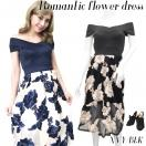 Romantic flower dress(BLK/NVY)