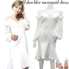SALE Offshoulder mermaid dress(WHT)