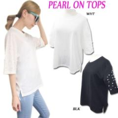 SALE Pearl on TOP(BLK/WHT)