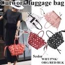 SALE【ORG only】Cutwork luggage bag(WHT/PNK/ORG/RED/BLK)