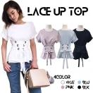 Lace up TOP(WHT/PNK/BLU/BLK)