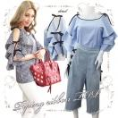 SALE Piping ribbon TOP(MLT/BLU)
