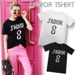 【▼Back in stock▼】J'ADIOR Tshirt(WHT/BLK)