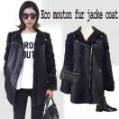SALE Eco mouton fur JK/coat(BLK)