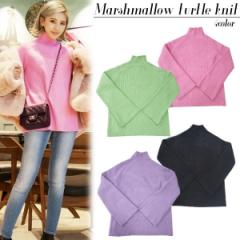 Marshmallow turtle knit(PNK/BLK/GRN/PUR)