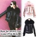 SALE 【BLKonly】Ram fur pocket coat(PNK/BLK)