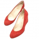 Christian Louboutin Suede wedge pumps 36(RED)