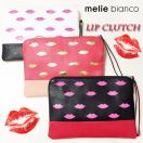 melie bianco Lip clutch bag(BLK/WHT/RED)