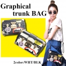 Graphical trunk BAG(WHT/BLK)