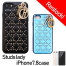 【再入荷】Studs lady iPhone7,8(BLU/BLK)