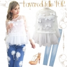 Layered tulle TOP(WHT)