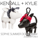 LAST1☆SALE☆【70%OFF】KENDALL + KYLIE SOPHIE SUMMER DOG CHARM(WHT/BLK)