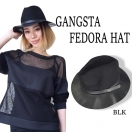 SALE Leather fedra hat