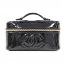 CHANEL Enamel vanity bag(BLK)