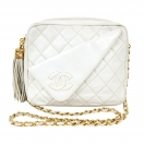 CHANEL Dia cocomark stitch fringe chain bag(IVO)