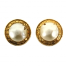 CHANEL Round coco pearl earring(GLD)