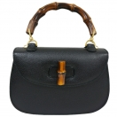 GUCCI  Bamboo leather hand bag