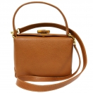 GUCCI Leather bamboo turnlock  2way bag(CAM)