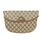 GUCCI GG pattern logo plate clutch bag(BRN)