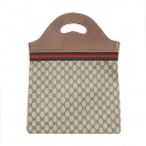 GUCCI GG shellieline 2way tote bag(BRN)