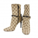 GUCCI GG canvas chain boots(BRN)