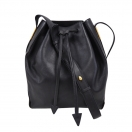 CELINE Leather drawstring bag(BLK)