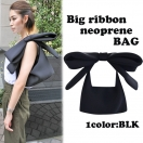 Big ribbon neoprene BAG(BLK)