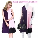 Scallop colorblock onepiece(MLT)