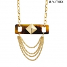 a.v.max Studs chain necklace
