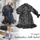 NYimport Embroidery frill jacket(BLK)