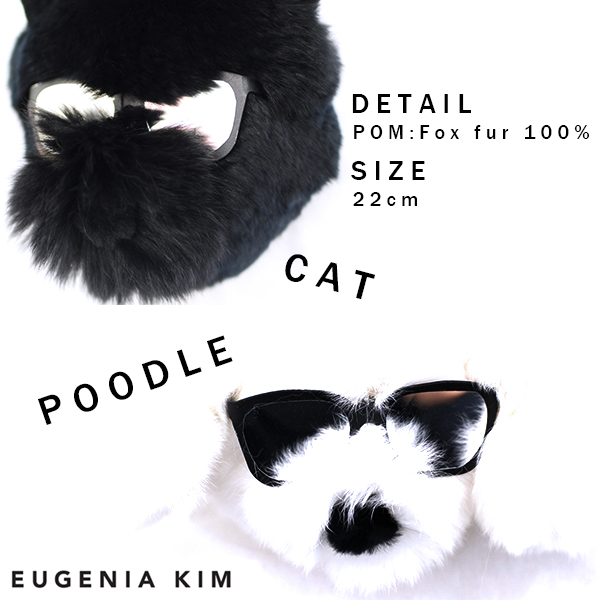【★12,080円→8,456円】SALE Eugenia kim LUPE fur pom key chain(WHT/BLK)