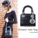 Enamel lady bag (BLK)