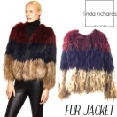 SALE NYimport LINDA RICHARDS Realfur jacket(MLT)
