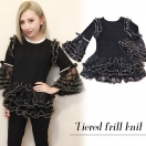 Tiered frill knit(BLK)