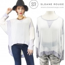 SALE【70%OFF】SLOANE ROUGE See-throughTOP