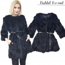 【OUTLET】Rabbit fur coat(BLK)
